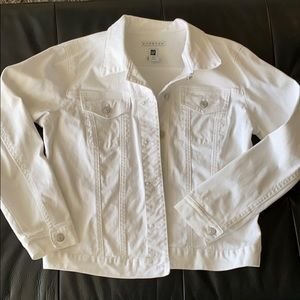 White Gap Jean Jacket
